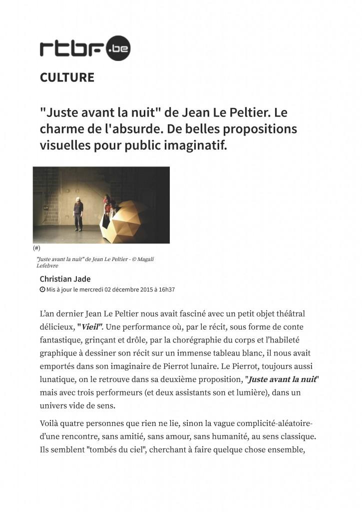 """""""Juste avant la nuit"""" de Jean Le Peltier. Le charme de l'absurde. De belles propositions visuelles pour public imaginatif._Page_1"""